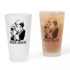 beersnob_black Drinking Glass