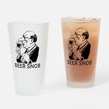 beersnob_black Drinking Glass