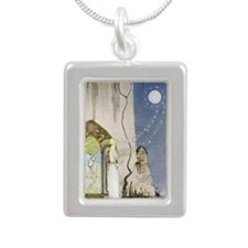 Out Popped the Moon, Kay Silver Portrait Necklace