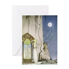 Out Popped the Moon, Kay Nielsen Jou Greeting Card