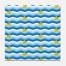 Duck Duck Duck Pattern Tile Coaster