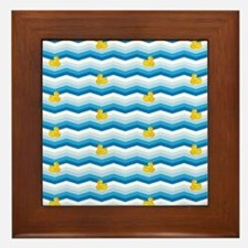 Duck Duck Duck Pattern Framed Tile