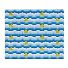 Duck Duck Duck Pattern Throw Blanket