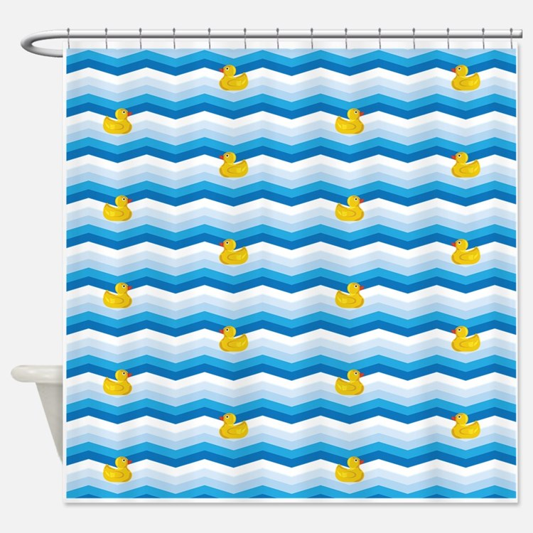Duck Duck Duck Pattern Shower Curtain