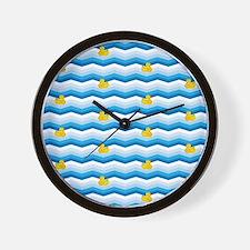 Duck Duck Duck Pattern Wall Clock