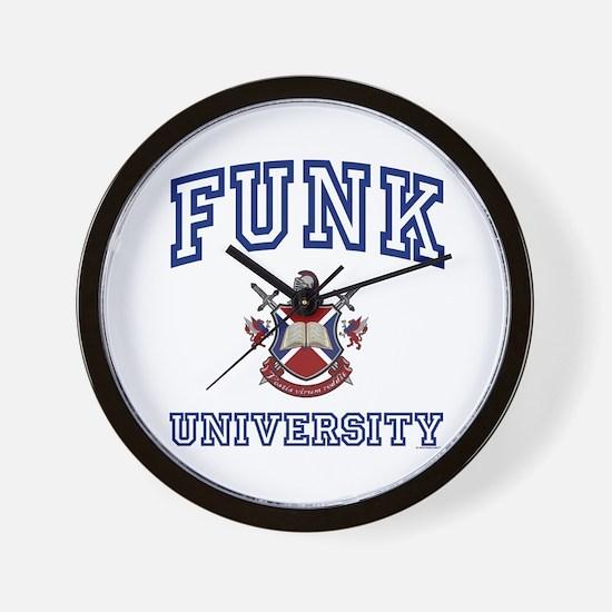 FUNK University Wall Clock