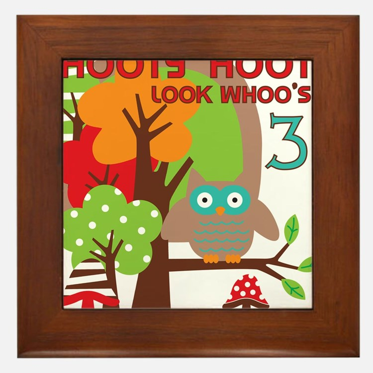 HOOTY3 Framed Tile