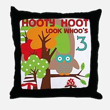HOOTY3 Throw Pillow