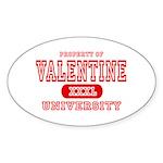 Valentine University Oval Sticker