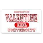 Valentine University Rectangle Sticker