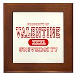 Valentine University Framed Tile