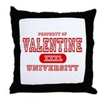 Valentine University Throw Pillow