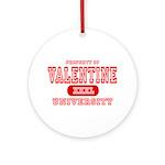 Valentine University Ornament (Round)