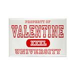 Valentine University Rectangle Magnet