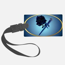 The Black Rose and Dagger-oval_s Luggage Tag