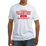 Valentine University Fitted T-Shirt