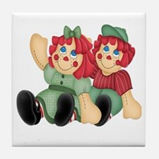 Raggedy Ann & Andy Doll's Tile Coaster