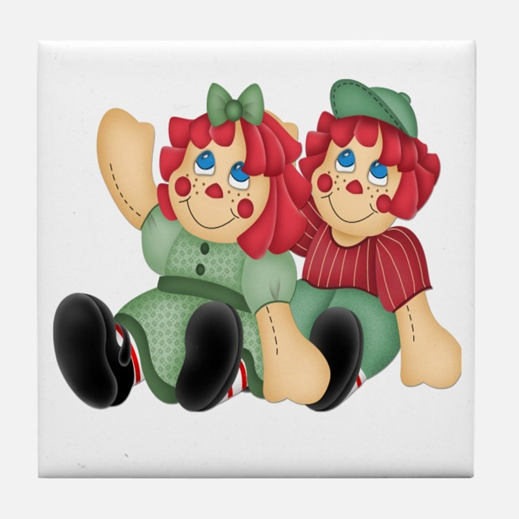 Raggedy Ann & Andy Doll's Tile Coaster