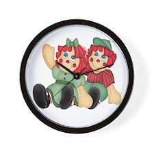 Raggedy Ann & Andy Doll's Wall Clock