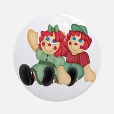 Raggedy Ann & Andy Doll's Ornament (Round)