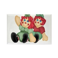 Raggedy Ann & Andy Doll's Rectangle Magnet
