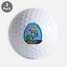 Mermaid in Florida Globe Clear Backgrou Golf Ball
