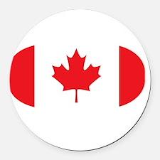 3-curlingCA2 Round Car Magnet