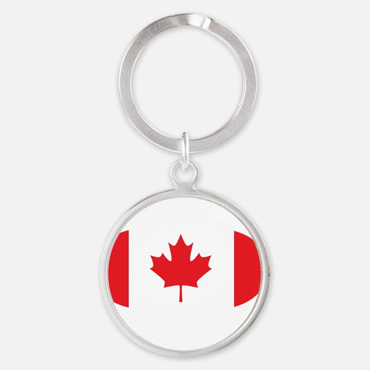 3-curlingCA2 Round Keychain