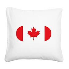 3-curlingCA2 Square Canvas Pillow