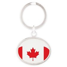 2-curlingCA Oval Keychain