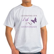 7th Wedding Aniversary (Butterfly) T-Shirt