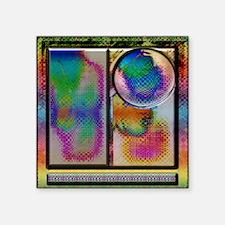 "li- Art Advanced Abstract S Square Sticker 3"" x 3"""