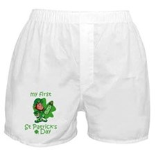 first st patricks day Boxer Shorts