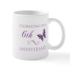 6th Wedding Aniversary (Butterfly) Mug