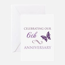 6th Wedding Aniversary (Butterfly) Greeting Card