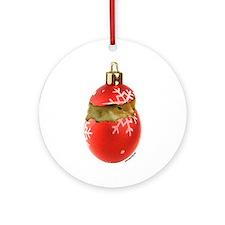 X-mas Chick Ornament (Round)