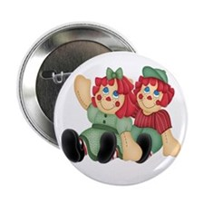 """Raggedy Ann & Andy Doll's 2.25"""" Button (10 pack)"""