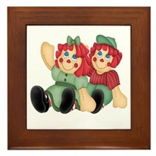 Raggedy Ann & Andy Doll's Framed Tile