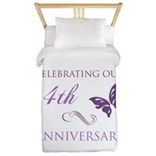 4th Wedding Aniversary (Butterfly) Twin Duvet
