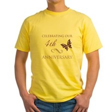 4th Wedding Aniversary (Butterfly) T