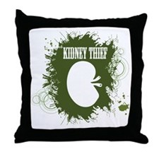 kidney thief 2white Throw Pillow