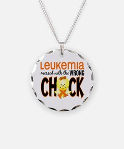 Leukemia Messed With Wrong Chick Necklace