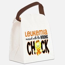 Leukemia Messed With Wrong Chick Canvas Lunch Bag