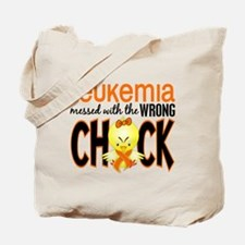 Leukemia Messed With Wrong Chick Tote Bag