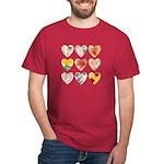 9 Lite Hearts Dark T-Shirt