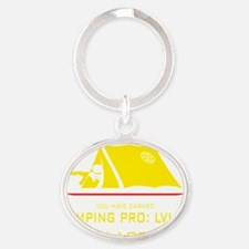 Camping-pro-2 Oval Keychain