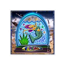 "Mermaid in Florida Globe Ba Square Sticker 3"" x 3"""