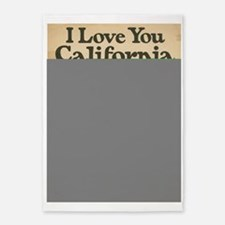I Love You California 5'x7'Area Rug