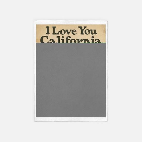 I Love You California 5'x7'Area Rug