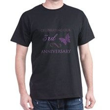 3rd Wedding Aniversary (Butterfly) T-Shirt